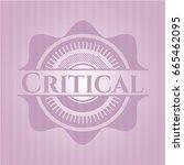 critical retro pink emblem | Shutterstock .eps vector #665462095