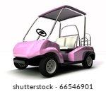 golf cart isolated on white background - stock photo