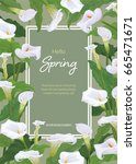 Calla Lily Flowers Frame On...