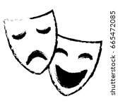 theater masks isolated icon | Shutterstock .eps vector #665472085