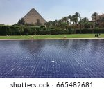 giza  egypt   may 2017   a view ... | Shutterstock . vector #665482681