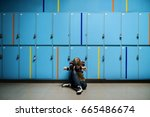 young student torturing of... | Shutterstock . vector #665486674