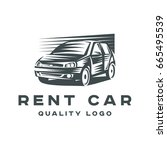 logo rental car quality sign... | Shutterstock . vector #665495539