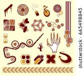 design elements set | Shutterstock .eps vector #665498845