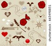 design elements set | Shutterstock .eps vector #665498851