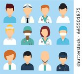 medical people and staff flat... | Shutterstock .eps vector #665501875