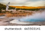 Hot Springs And Geyser Basin...