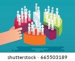 market segmentation. dividing... | Shutterstock .eps vector #665503189