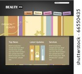 beauty style website template   ... | Shutterstock .eps vector #66550435