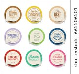modern badges and labels... | Shutterstock .eps vector #665506501
