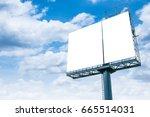 blank billboard ready for new...   Shutterstock . vector #665514031