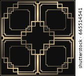 vector geometric ornament in... | Shutterstock .eps vector #665514541