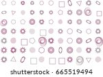 abstract colored mixed shape... | Shutterstock .eps vector #665519494