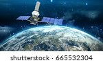 vector image of 3d modern solar ...   Shutterstock . vector #665532304