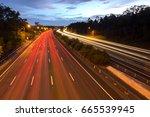 m1 highway gold coast ... | Shutterstock . vector #665539945