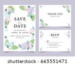 wedding invitation card... | Shutterstock .eps vector #665551471