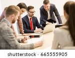 group of young business people... | Shutterstock . vector #665555905