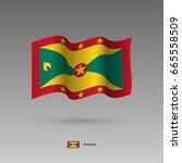 grenada flag. official colors... | Shutterstock .eps vector #665558509