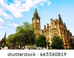 Manchester  Uk. Town Hall Of...