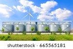 silo structure for storing bulk ... | Shutterstock . vector #665565181