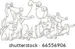 illustration of sitting dogs... | Shutterstock .eps vector #66556906