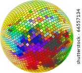 Abstract Sphere. Vector...