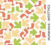 colorful arrow pattern... | Shutterstock .eps vector #665577421