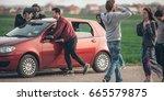 behind scene improvisation.... | Shutterstock . vector #665579875