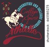 american college academy polo... | Shutterstock .eps vector #665585275