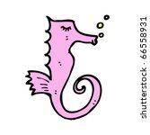 seahorse cartoon | Shutterstock .eps vector #66558931