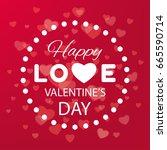 digital vector red heart... | Shutterstock .eps vector #665590714