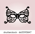 masquerade mask with laser cut... | Shutterstock .eps vector #665595847