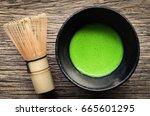 japanese matcha green tea at... | Shutterstock . vector #665601295