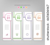 infographic template of four... | Shutterstock .eps vector #665606467