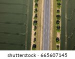 aerial view of the road in... | Shutterstock . vector #665607145