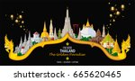 thailand travel concept the...   Shutterstock .eps vector #665620465