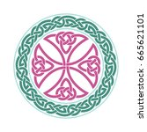 vector celtic cross. ethnic...