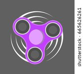 fidget spinner icon   toy for... | Shutterstock .eps vector #665626261