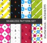 seamless pattern set of
