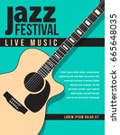 jazz festival music background... | Shutterstock .eps vector #665648035