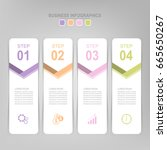 infographic template of four... | Shutterstock .eps vector #665650267