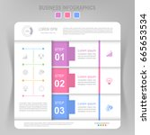 infographic template of three... | Shutterstock .eps vector #665653534