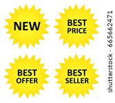 price stickers  new  best... | Shutterstock .eps vector #665662471