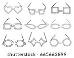 sunglasses hand drawn | Shutterstock .eps vector #665663899