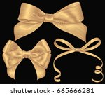 bows. design set. hand drawn... | Shutterstock .eps vector #665666281