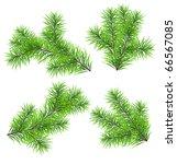 set vector christmas tree... | Shutterstock .eps vector #66567085