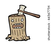 Tree Stump Cartoon