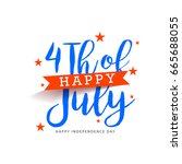 happy 4th of july usa...   Shutterstock .eps vector #665688055