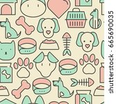 seamless pattern and background ... | Shutterstock .eps vector #665690035