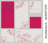 template rustic wedding... | Shutterstock .eps vector #665697295